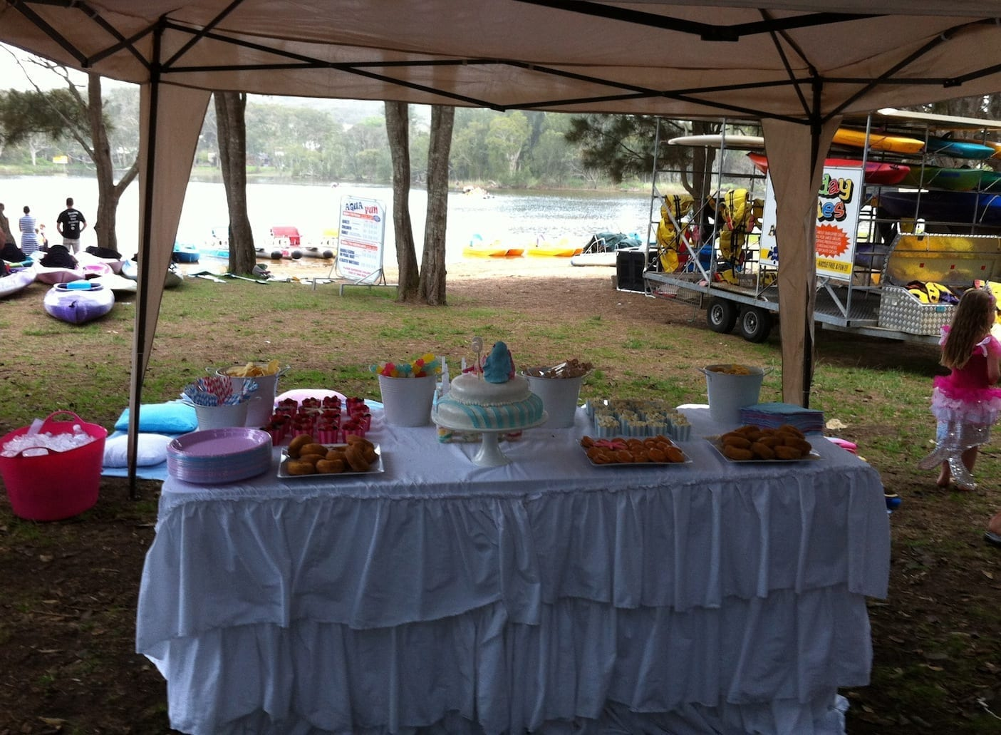 BYO party food. Aquafun is great kids birthday party venues
