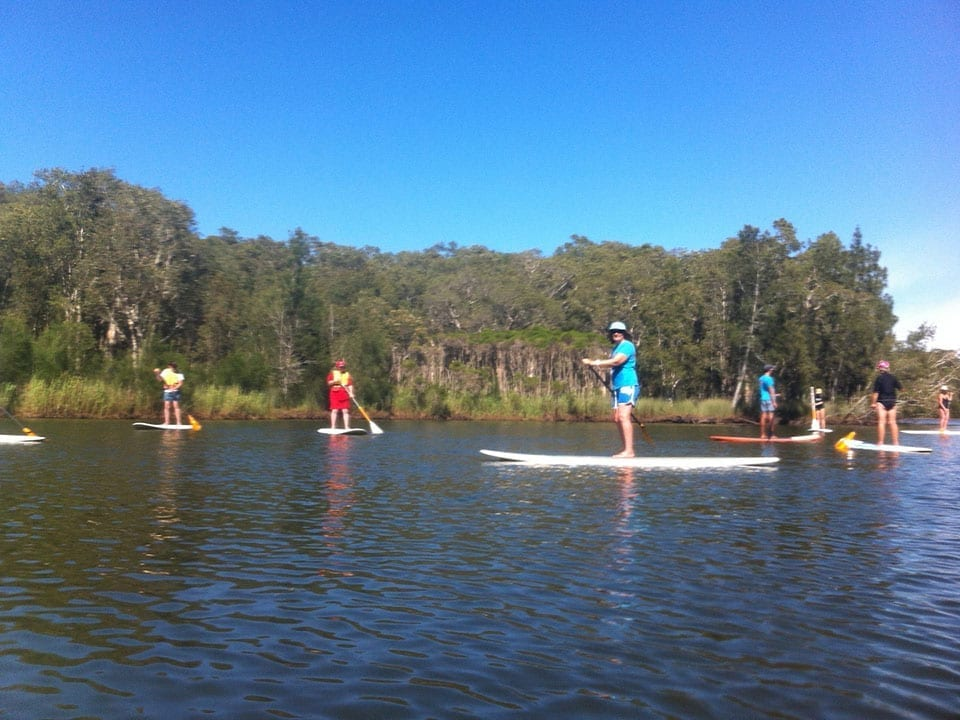 Group SUP activity Avoca