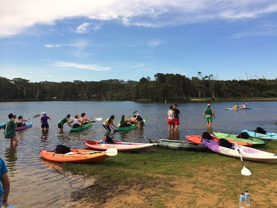 Avoca Lake Kayaking group activity