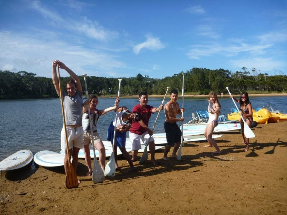 Aquafun stand-up paddleboard group lesson