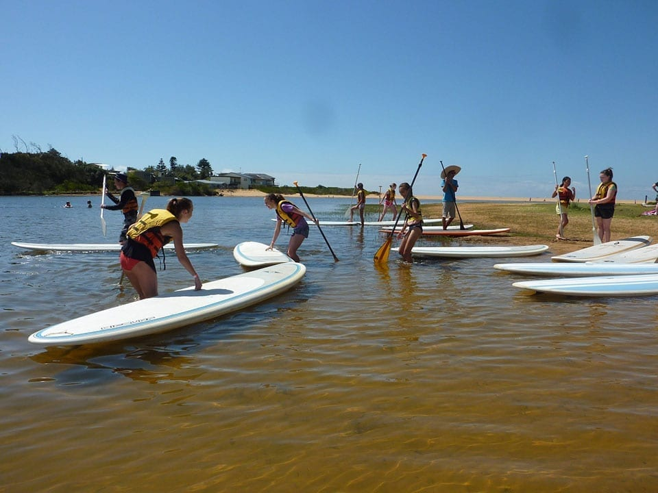 Sport and Recreation group activity Stand-up paddleboarding