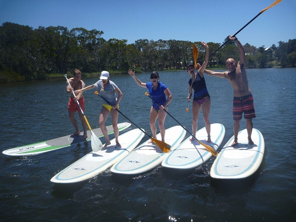 Group SUP lessons Avoca Beach